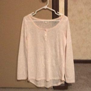 Tops - Size L cream shirt